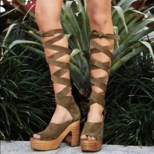 Free People Touch The Sky Lace Up Clog